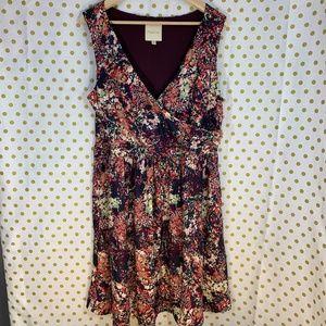 Modcloth floral flowers sleeveless dress size 1X